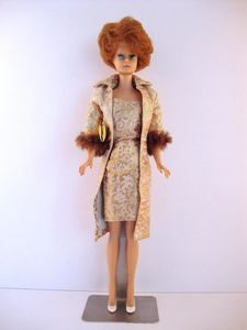 1964 Evening Splendour Bubble Cut Barbie No-0961-b-1