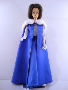 1965 Midnight Blue Fashion Queen Barbie No-1617-1