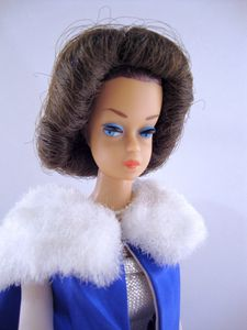 1965 Midnight Blue Fashion Queen Barbie No-1617-2