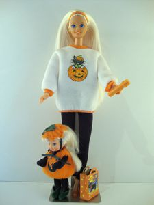 1996 Happy Halloween Barbie et Kelly No-17238-1