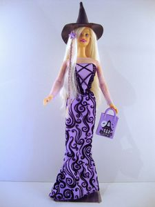 2002 Halloween Glow Barbie No-55196-1