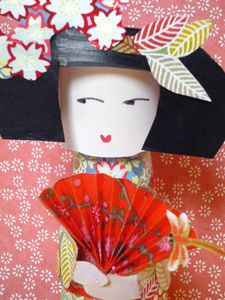 kokeshi paper toy eventaila