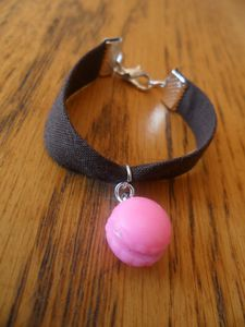 bracelet fillette marron macaron rose
