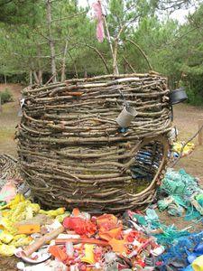 Le nid installation en for t de notre dame de monts le for L oiseau jardinier
