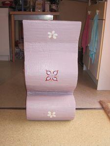 Finition du meuble de chevet le blog de laviedechaquejour for Finition meuble en carton
