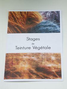 Stage de teinture végétale