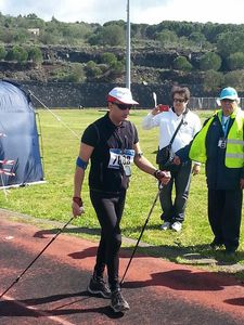 The Longest Marathon Nordic Walking Guinness Record Attempt. Ufficialmente registrate nel Guinness dei Primati la prestazione di Rosario Catania