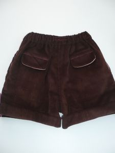 Short à revers velours chocolat dos