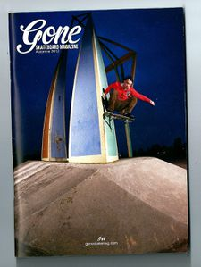 Cover Gone skateboard magazine0001