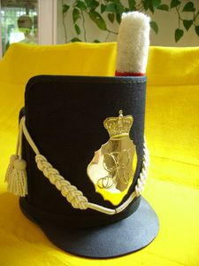 Belgique-Shako-Dressed-left-side