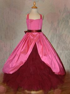 Robe Princesses Soie Rose devant
