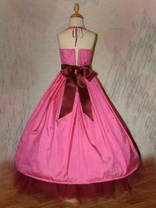 Robe Princesses Soie Rose dos