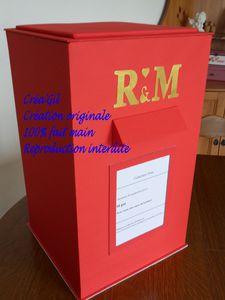 urne mariage boite aux lettres anglaise le blog de. Black Bedroom Furniture Sets. Home Design Ideas