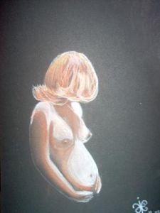 Nu femme enceinte