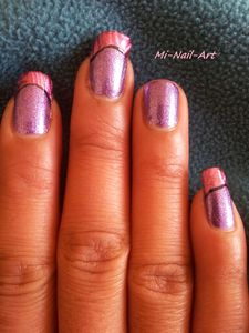 French'foil and purple 8
