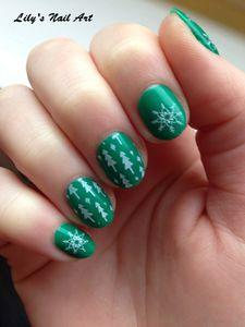 Vert stamping sapin flocon