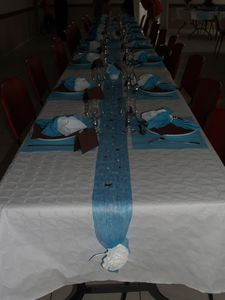 table bleue et marron - Le blog de scrapdecoetcie