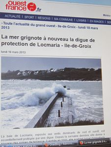 013r Ouest-France 18-03-13 Digue Locmaria-Groix