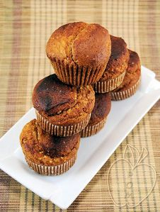Muffins integrales de mijo y miel (5)