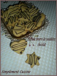 biscuits beurre de cacahuètes choco