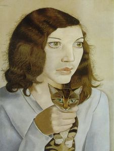 1947 Lucian Freud Fille au chat Coll privée
