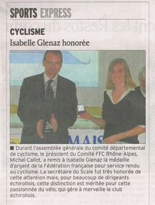 Isabelle recompense FFC