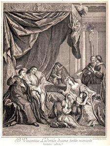 Mort de Louis XIII de France à Saint-Germain en Laye Vincent de Paul at deathbed of Louis XIII 2