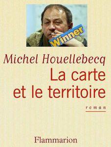 Goncourt Houellebecq Michel la carte et le territoire