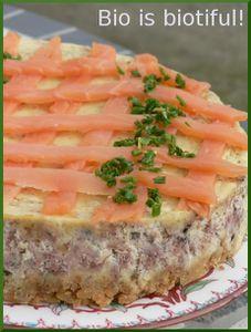 Cheesecake au saumon fumé 1