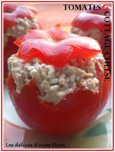 Tomates farcies au cottage cheese(2)