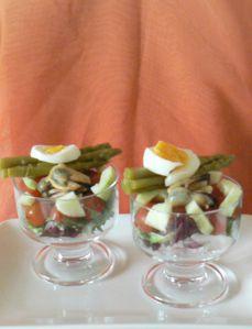 Salade en verrine, sauce Alicante