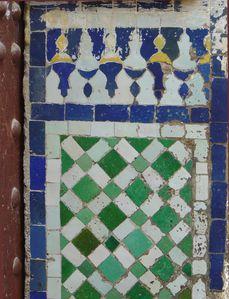 Zelliges mur mosquée à Fès