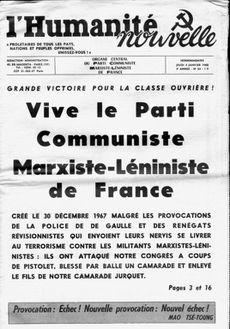 Vive le parti marxiste-léniniste de France
