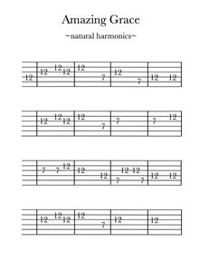 Amazing Grace-natural harmonics Pages version