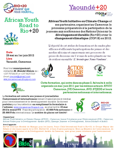 African Youth Road to Rio+20 Yaounde+20 Flyer