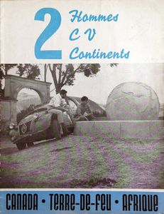 2 hommes 2CV 2 continents Cornet Lochon