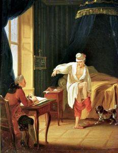 Voltaire Jean Huber Le lever de Voltaire