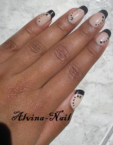 french noir dotting, Alvina-Nail