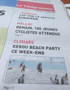 027r Télégramme 11-5-12-7e Kerou Beach