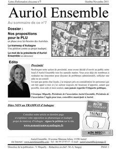 Lettre d'information Auriol Ensemble octobre 2011-1