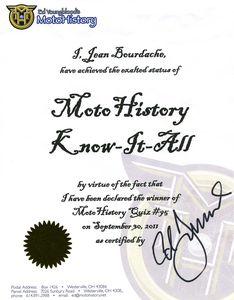 Motohistory diplôme626