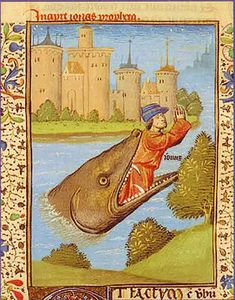 Jonas rejete par la baleine Bible de Jean XXII (Co) Wikiped