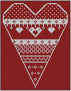 coeur de noël rouge et blanc