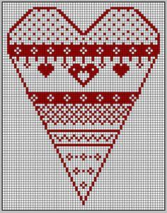coeur de noël blanc et rouge