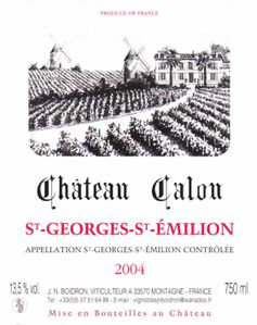 Calon St Georges 2004corrige
