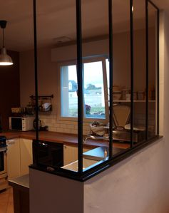 S paration de cuisine salle manger creation artisanale for Separation vitree cuisine salle a manger