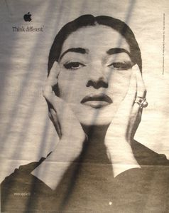 Apple, Think different, Maria Callas