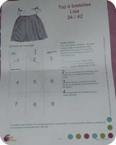 instructions petit citron top lise