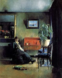 Harriet Backer Blatt interior 1883
