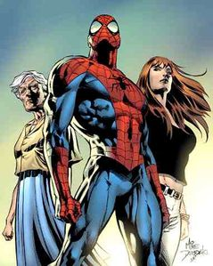 spiderman aunt may mary jane watson Marvel comic cover